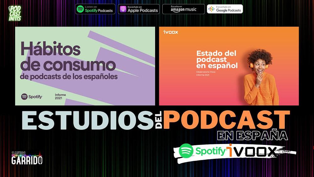 Estudios del Podcast en España. Ivoox y Spotify (Cap 57)